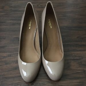 Coach Rosey Patent Pumps in Warm Blush color